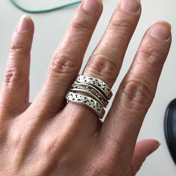 Lois Hill Jewelry - Lois Hill sterling silver stacking rings Sz 6
